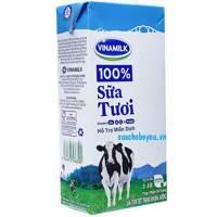 Sữa Tiệt Trùng Vinamilk Không Đường Hộp 1 Lít - Thùng 12 Hộp