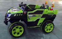 Ô tô điện trẻ em kiểu dáng xe địa hình 803 - xanh/ vàng