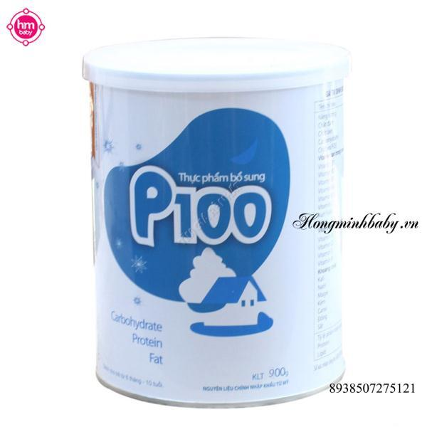 Thực phẩm bổ sung sữa bột P100 - hộp 400g, dành cho trẻ từ 6 tháng đến...