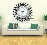 Đồng hồ trang trí hoa pha lê đầy đủ sắc màu cho không gian đặc biệt ấn tượng JT1307