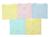 Bộ 5 Áo cài giữa tay dài màu bo Nanio AN005 -  size 2 , 3-6 tháng