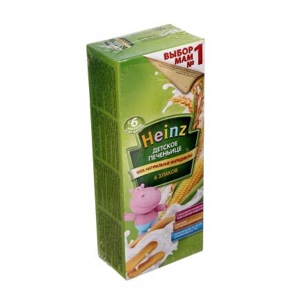 Bánh ăn dặm Heinz sữa và ngũ cốc 180gr