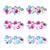 Kẹp tóc hoa mai đa sắc Pink Poppy HC-404