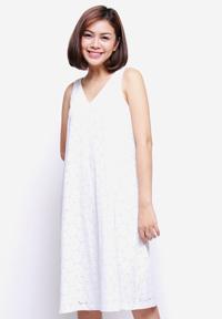 Đầm ren cotton cổ tim MARC TH044616