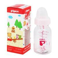 Bình sữa tròn Pigeon RP4 núm ti silicone 120ml