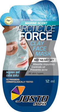 Mặt nạ giấy hương biển Josto Men Arctic Ice Force 25g