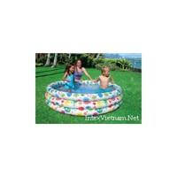 Bể bơi phao hoa 3 tầng Intex 56440 - hình cá