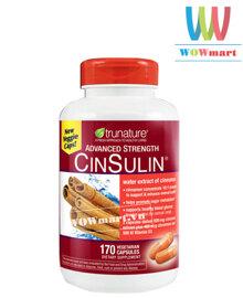 Viên uống chiết xuất từ vỏ quế Trunature Advanced Strength CinSulin 170 viên