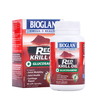 Viên Bổ Khớp Cao Cấp Bioglan Red Krill Oil & Glucosamine