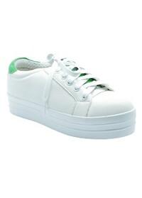 Giày Sneaker Nữ Cột Dây Đế Cao Cindydrella TN3T