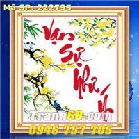 tranh thêu chữ thập vạn sự như ý - DLH-222795