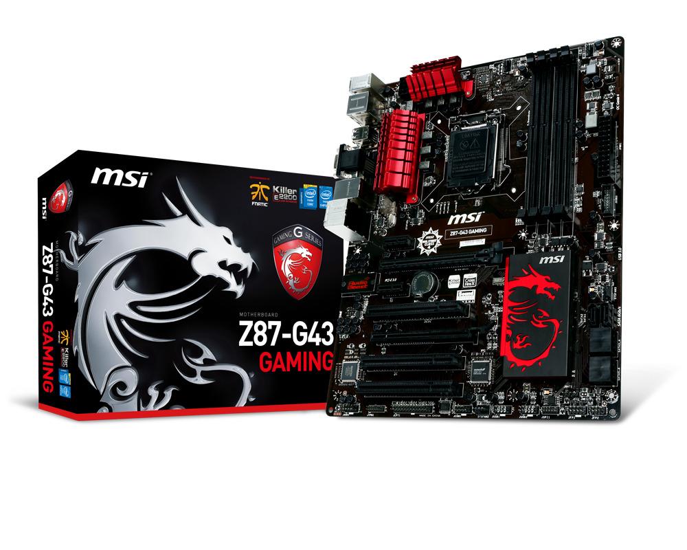 Bo mạch chủ (Mainboard) MSI Z87-G43 GAMING - Socket 1150, Intel Z87, 4...