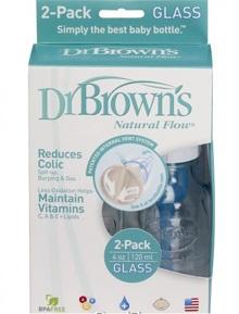 Bình sữa Dr. Brown's thuỷ tinh set 2 bình 120ml