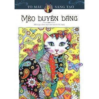 Mèo Duyên Dáng (Sách Tô Màu Dành Cho Người Lớn)