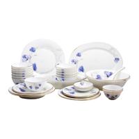Bộ 30 món đồ dùng bàn ăn thủy tinh ngọc Vitriares 808-30T