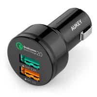 Sạc ô tô Aukey CC-T1 qualcomm quick charge 2.0