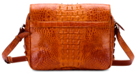 Túi xách da cá sấu Huy Hoàng đeo chéo màu vàng - HH6209