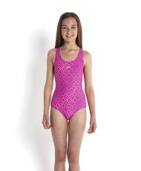 Đồ bơi bé gái Speedo 8-08833A738 Monogram Allover Splashback Purple/Pink