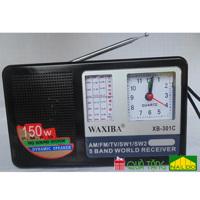 Đài FM radio Waxiba có đồng hồ XB-301C