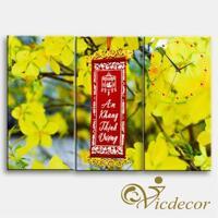 Đồng hồ tranh-Hoa mai vàng-DHT0243