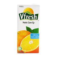 Nước cam ép Vfresh hộp 1L, 100%, không đường