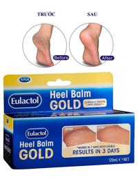 Kem trị nứt nẻ và dưỡng gót chân Eulactol Heel Balm Gold 120ml Úc