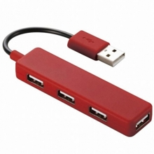 Bộ chia 4 cổng USB Elecom U2H-SN4BRD (Đỏ)
