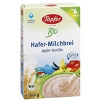 Bột ăn dặm Topfer Organic ngũ cốc yến mạch sữa Táo-vani