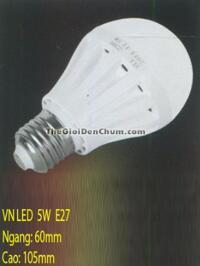 Đèn LED Búp Vỏ Nhựa 5W E27