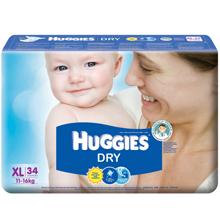 Tã dán Huggies size XL 34 miếng (trẻ từ 11 - 16kg)