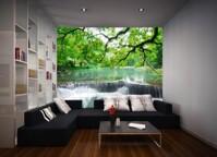 Tranh gạch trang trí tổng hợp phòng khách DS1004
