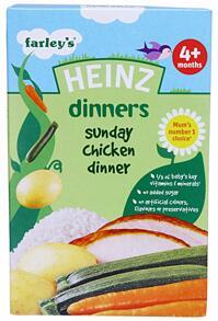 Bột ăn dặm Heinz 4+ vị Gà