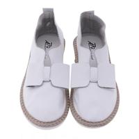 Giày lười gắn nơ AZ79 WNTT0100037A2 - màu đen/ trắng