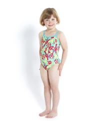 Đồ bơi bé gái Speedo 8-07972A713 Bird Buddies Essential Frill 1 Piece Red(Họa tiết)