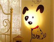 Đèn ngủ 3D dán tường hình chó đốm