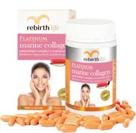 Viên uống chống lão hóa Rebirth Life Platinum Marine Collagen, 60 viên