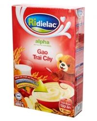 Bột ngũ cốc gạo trái cây Ridielac Alpha - 200g