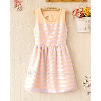Đầm công chúa không tay màu hồng phấn DV2075