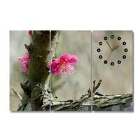 Đồng hồ tranh Cành Đào Dyvina 3T3060-41