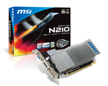 Card đồ họa (VGA Card) MSI N210-MD1GD3H/LP - GeForce 210, DDR3, 1GB, 64 bits, PCI-E 2.0