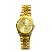 Đồng hồ nam dây thép mạ vàng Caritas