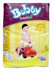 Tã dán Bobby Fresh siêu mỏng size M 30 miếng (trẻ từ 6 - 10kg) ...