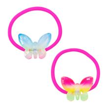 Dây cột tóc bươm bướm cầu vồng Pink Poppy SB106