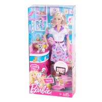 Búp bê Barbie chăm sóc thú cưng W3740