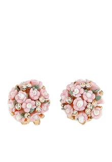 Bông tai cụm hoa daisy Hồng Chiclala Accessories