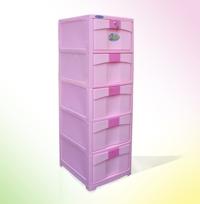 Tủ nhựa Duy Tân Saki 5 ngăn có khóa (rộng 38cm)