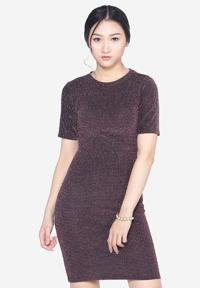 Váy Midi Body Nhũ Dài Cộc Tay SoYoung DRESS 0068