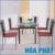 Bộ bàn ăn kính Hòa Phát B51 (G51)
