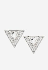 Bông tai hình tam giác sát tai đá trắng Yeno YCE6008A