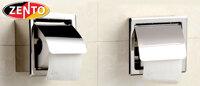 Lô giấy vệ sinh âm tường inox Zento HC1258